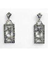 Art Neuvo Style Earrings Swarovski Crystals Rep... - $42.00