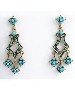 Deco Style Earrings Swarovski Crystals Reproduc... - $52.00