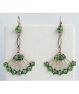 Georgian Style Earrings Swarovski Crystals Repr... - $46.00