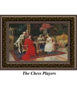 The Chess Players, Cross Stitch Pattern - $45.00