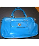 Womens Bright Blue Leather Marc Jacobs Handbag ... - $229.99
