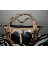 Black & Tan  Handbag Purse NWT Shoulder Bag Ani... - $36.29