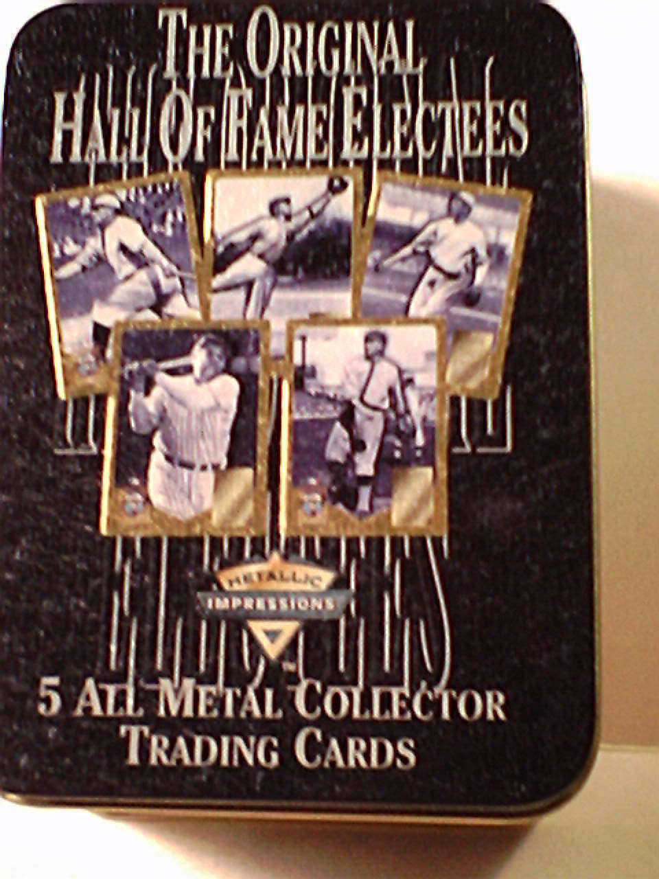 Hall of Fame Baseball  collector Metal  Baseball cards   by Avon