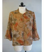 Blouse Multi-Colored Sheer With Glitter Size L New - $16.00