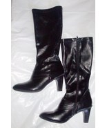Jaclyn Smith Womens High Heel Zip Up Boots Size 9.5
