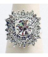 Swarovski Crystals Reproduction Ring Sz 7 - $36.00