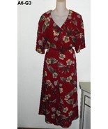 LAURA SCOTT Sz 22W Flowered Maroon Burgundy Ski... - $16.99
