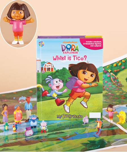 Dora Book & Figure Set  New