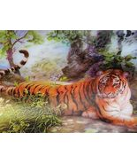 3 Dimensional 9x13 Unframed Very Large Tiger Aw... - $7.42