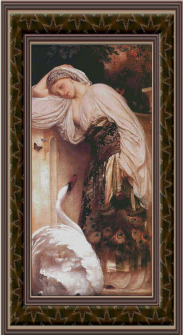 Odalisque, Cross Stitch Pattern