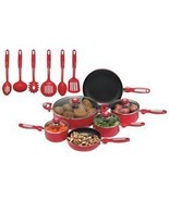 Chef's Secret 16 Piece Red Aluminum Cookware Set - $99.97
