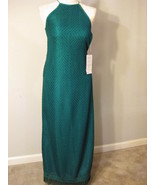 Long Kelly Green Crochet Gown Size M NWT - $45.00