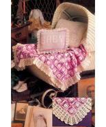CROCHET PATTERN Baby Afghan Blanket Pillow  - $3.00