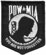 Embroidered Patch POW-MIA You Are Not Forgotten... - $3.22
