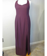 Burgundy Gown With Satin Criss Cross Straps Siz... - $57.00
