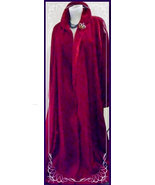 Fully Lined Womens Vintage Red Velvet Coat SunKissed of Ca Diamonds Phoenix