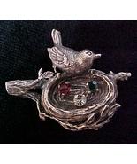 Anson Sterling Silver Mother Bird & Nest rhines... - $19.95