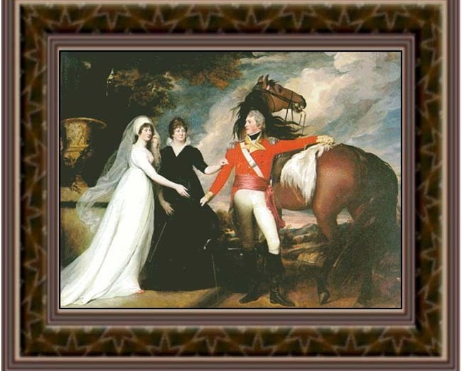 Colonel Fitch and His Sisters, Fine Art Counted Cross Stitch Pattern