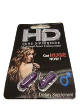 HD Huge Difference All Natural Sexual Male Enha... - $12.99