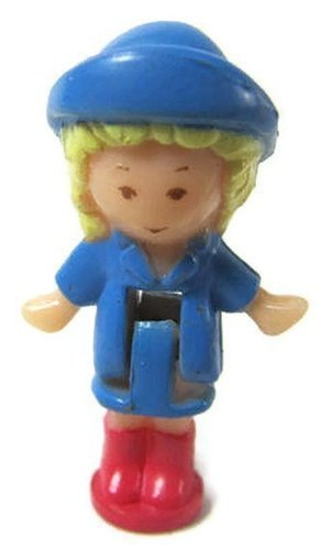 1991 Polly Pocket Doll Funtime Clock (Blue) - Polly