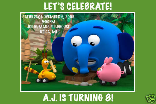 Jungle Junction Birthday Party Invitations w  Envelope