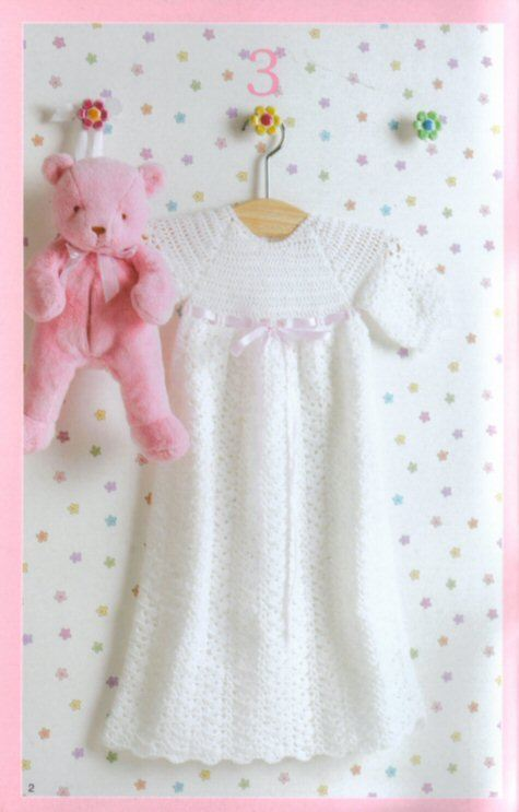 Free Crochet Baby Christening Gown Patterns Crochet And Knitting