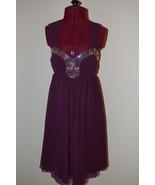 Lipsy Dress Purple Embellished Baby Doll US 6 N... - $60.00