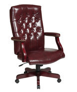 Oxblood (Burgundy) High Back Exec Office Tradit... - $244.99