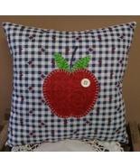 Handmade Appliqued Apple Pillow Teacher Gift Co... - $19.95