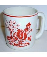 Vintage Milk Glass Child's Cup - Little Bo Peep... - $15.00