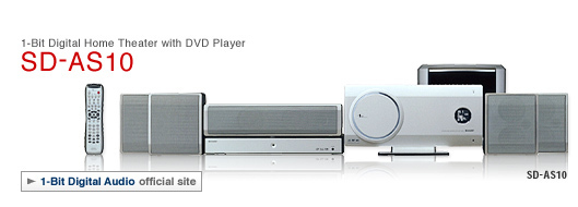Buy Sharp Home Audio - Sharp SD AS10 1-Bit Home Audio Digital Theater System w/ DVD Player Flat Panel