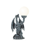 Table Lamp roaring dragon holds aloft glowing G... - $42.99