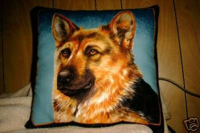 German Shepherd Dog Fabric Pillow New