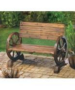 Western Wagon Wheel Bench Chair - $136.00