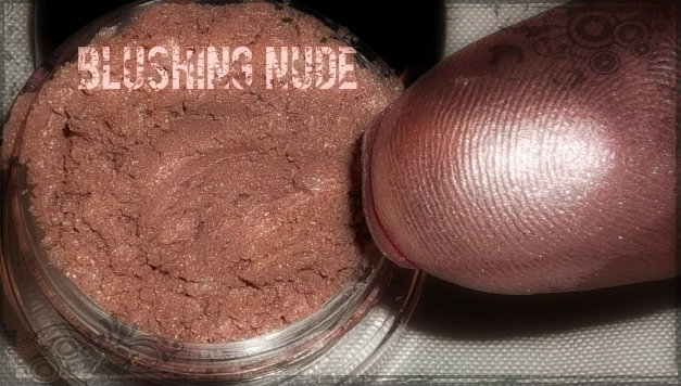 """Blushing Nude"" Mineral EyeShadow - A nude shade w/ a glowing pink undertone"