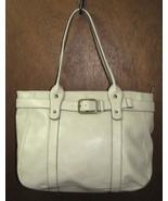 Large Cream Colored Crazy Horse Handbag Purse T... - $29.99