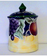 Biscotti Cookie Jar Covered Canister Fruits