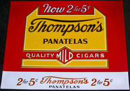 Thompson's Panatelas Embossed Inner Cigar Label... - $4.99