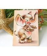 Vintage Elephant Squeaker Postcard Japan Novelt... - $9.95