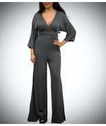Gray 1/4 Sleeve Jumpsuit - Medium - $29.99