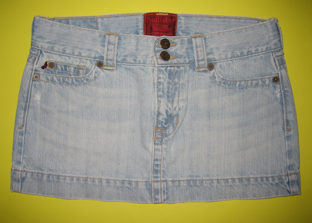 Hollister denim jean mini skirt sz 5