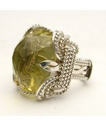 Wire Wrapped Lemon Citrine Sterling Silver Ring - $190.00