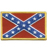 Embroidered Patch Rebel Flag Patch - $3.22