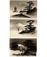 5 Gorgeous Vintg Hand Painted Scenic Japanese P... - $19.95