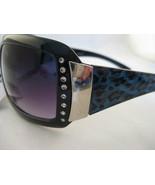 Designer Inspired Rhinestone And Leopard Sungla... - $10.95