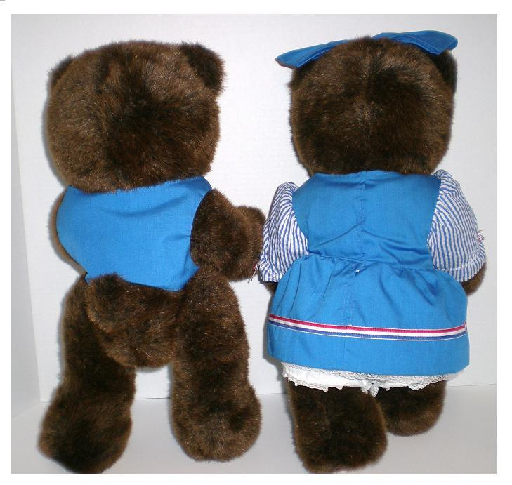 Image 2 of Robert Raikes Originals 1988 Woody Bears Boy and Girl Limited Ed set
