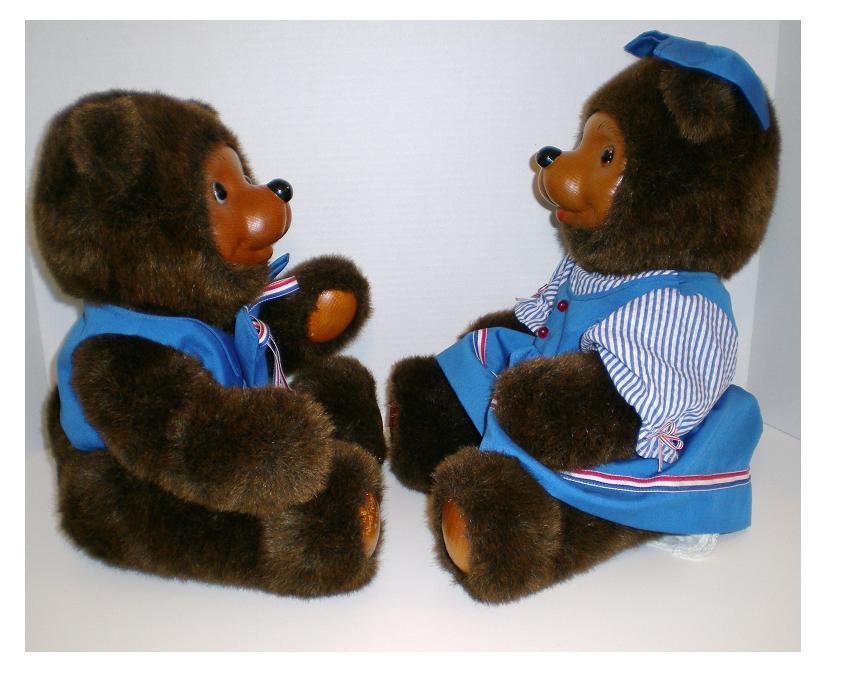 Image 3 of Robert Raikes Originals 1988 Woody Bears Boy and Girl Limited Ed set