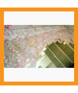 pink balloon shades valance curtain sheer windo... - $26.00