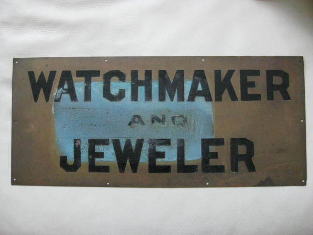 Antique Bronze Watchmaker - Jeweler Sign