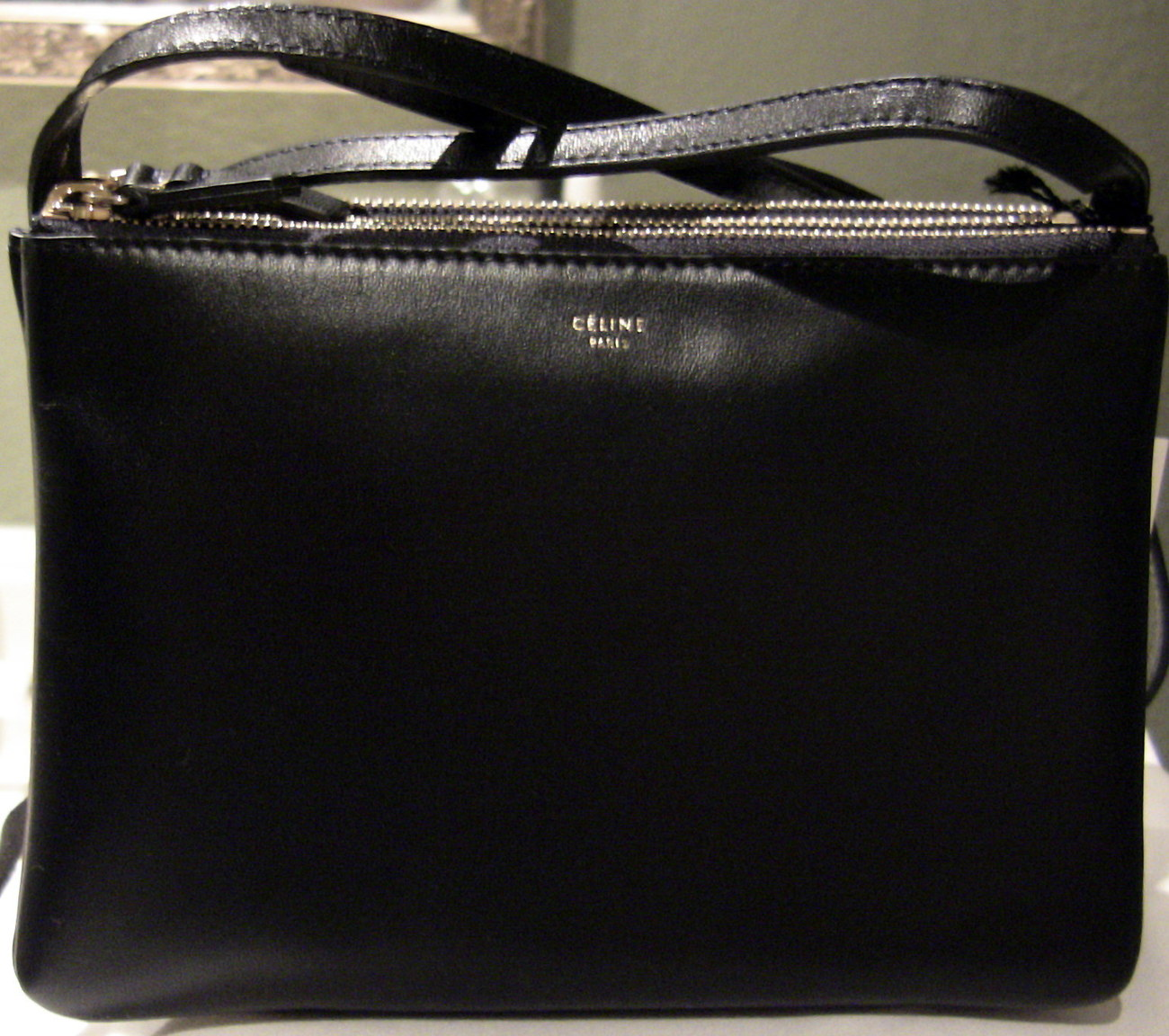 CELINE TRIO CROSSBODY BAG, NAVY BLUE
